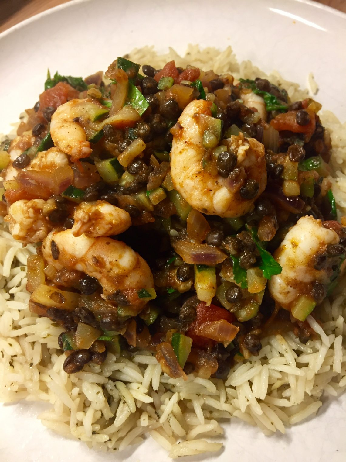 You are currently viewing Prawn, Courgette and Lentil Curry