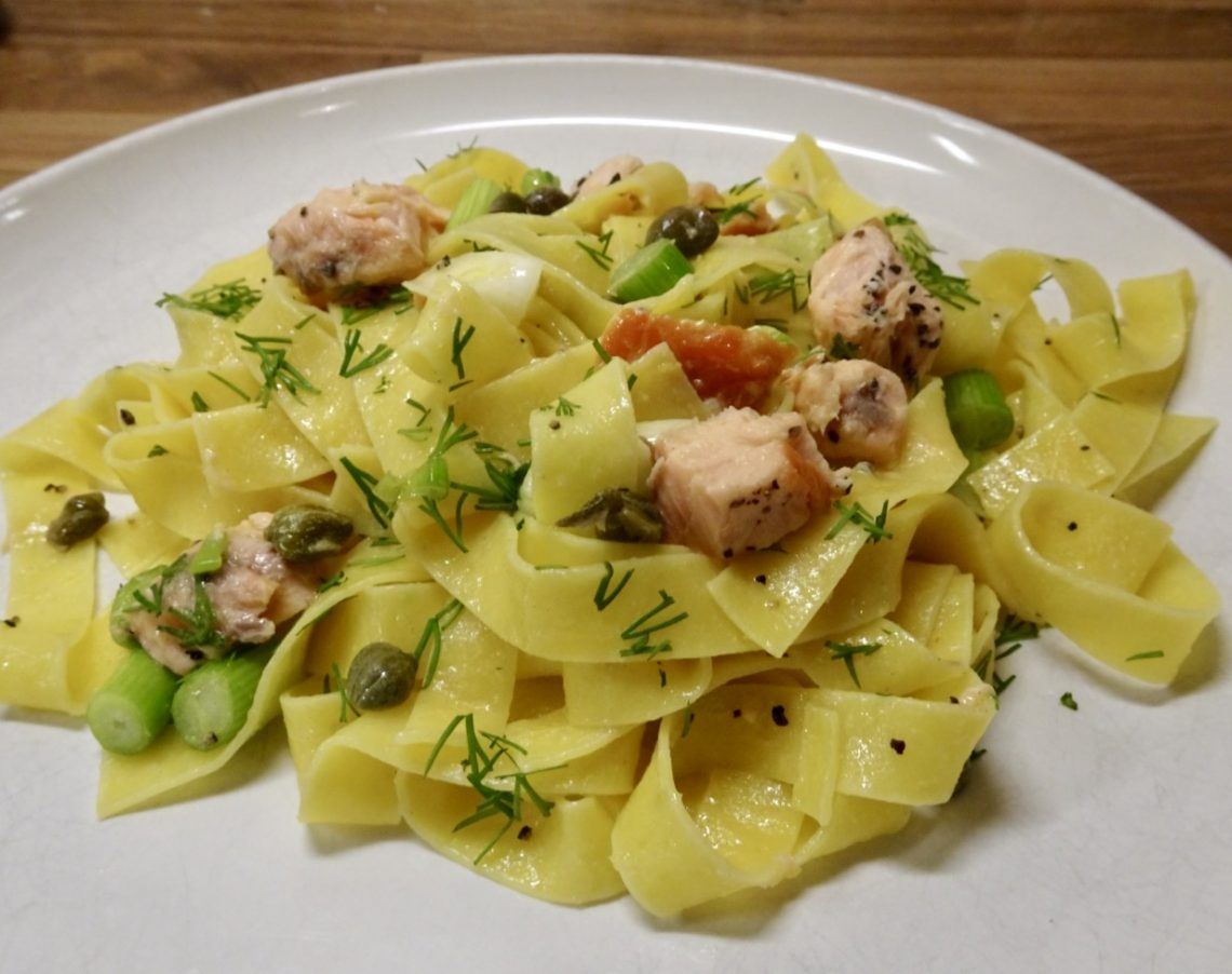 Smoked Salmon, Lemon & Caper Pasta
