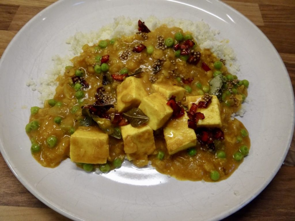 Paneer, Coconut and Yellow Split Pea Curry
