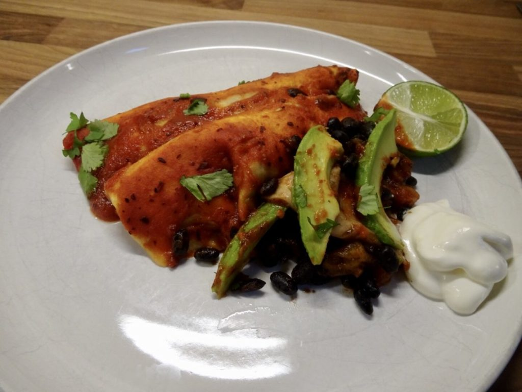 Read more about the article Butternut Squash and Black Bean Enchiladas