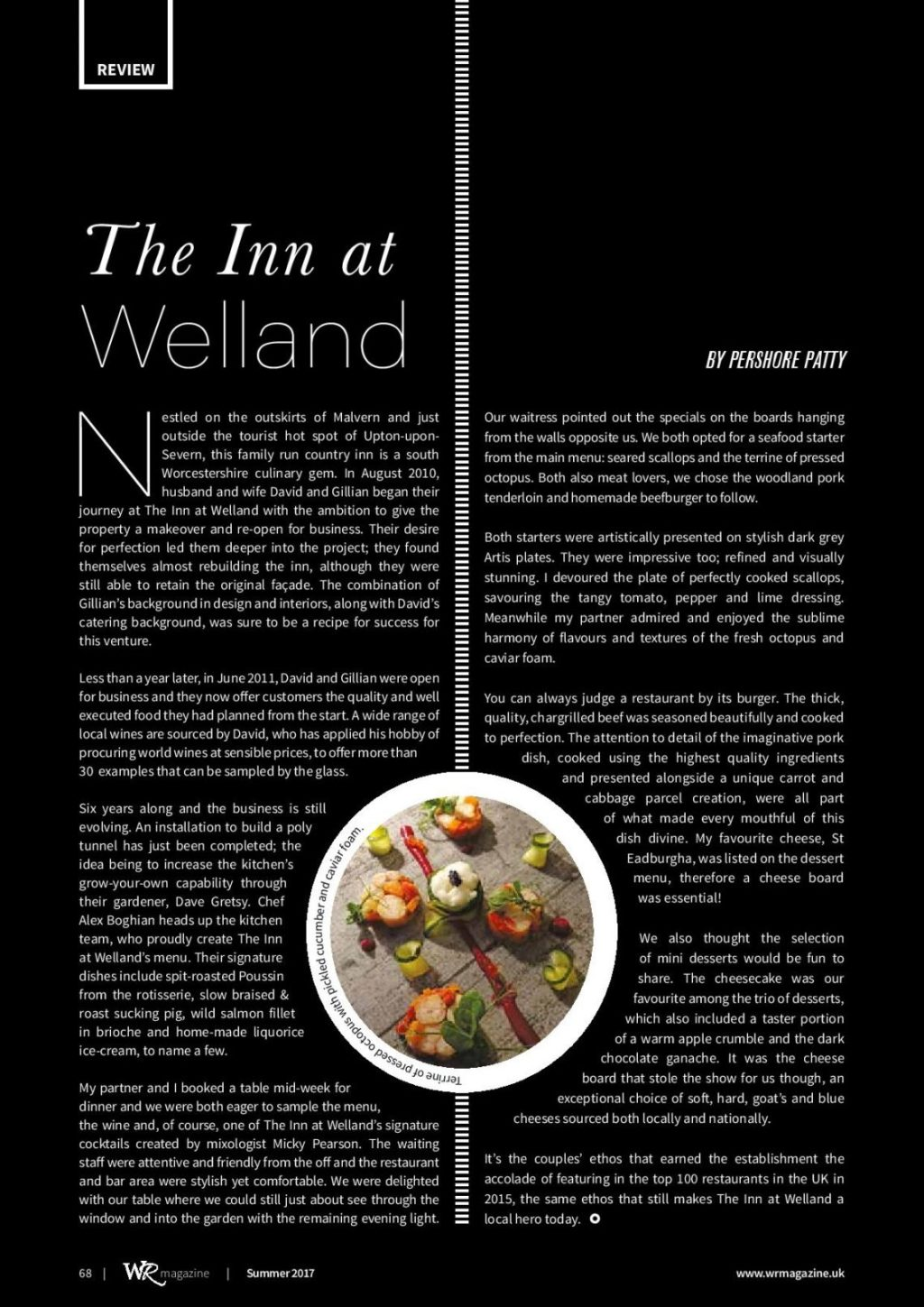 Restaurant Review: Inn at Welland, Malvern