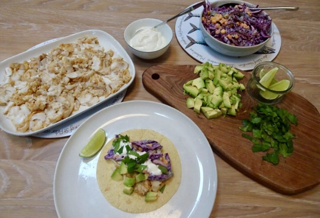 Healthy Fish Tacos with Purple Slaw | Recipe