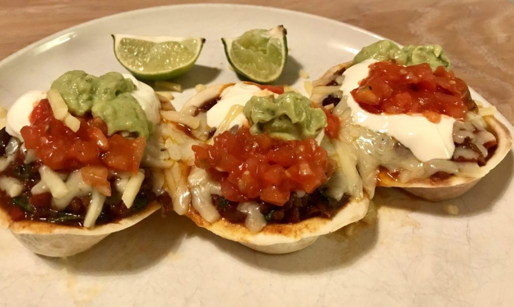 Slo 'n' Lo Chilli Con Carne in Tortilla Boats | Recipe