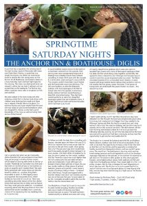 Pershore Patty: The Anchor Inn & Boathouse, Diglis Review | Featured in County Lifestyle and Leisure Magazine