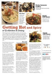 TJ's Kitchen Review in County Lifestyle and Leisure Magazine