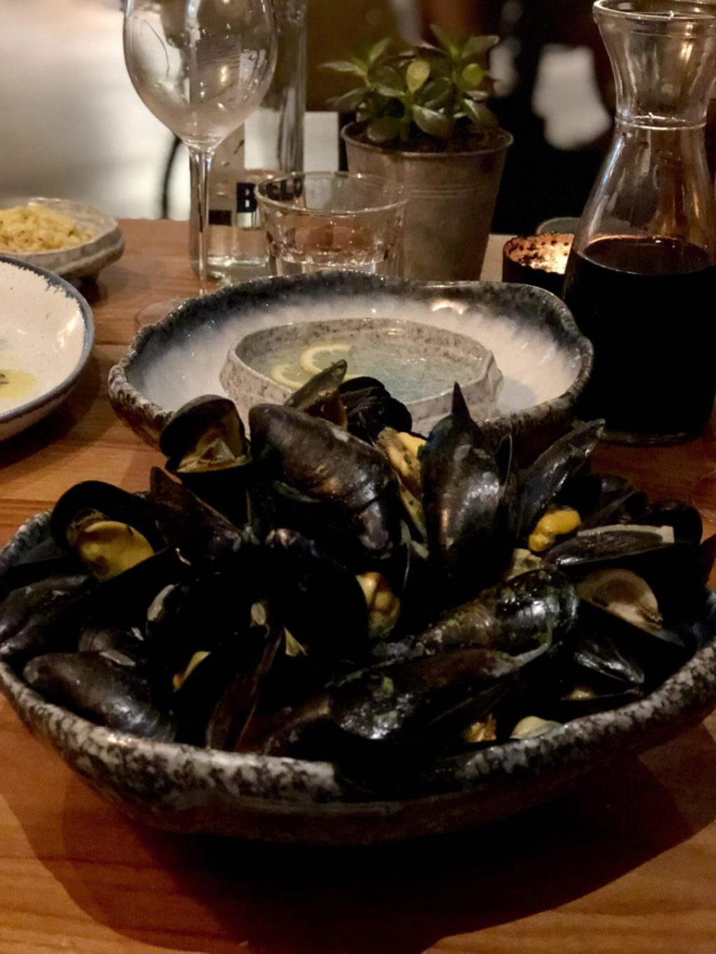 Fowey Mussels at The Fish Hotel Hook Restaurant, Broadway