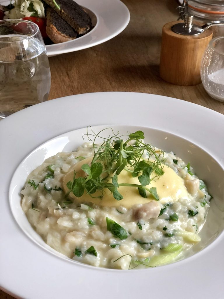 Smoked Haddock Risotto at Terrace on the Hill Malvern