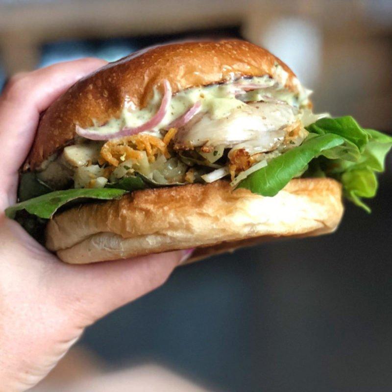 Chicken Burger at Burger Shop Worcester