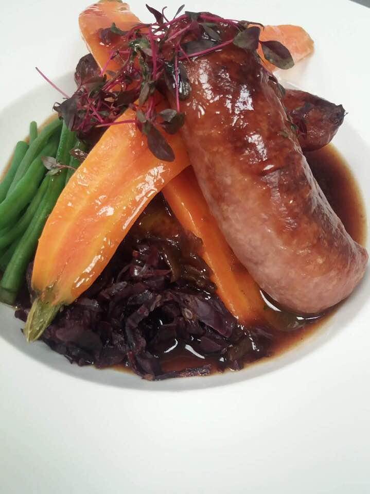 Sausages at The Royal Oak Kinnersley