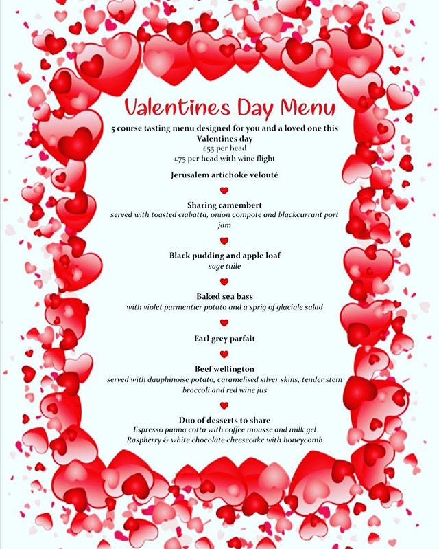 Pershore Patty Rounds Up 20 Romantic Valentine's Day Menus in Worcestershire 14